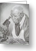 African American Art Drawings Greeting Cards - George Washington Carver Greeting Card by Ashanti A Johnson