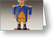 Woodworking Art Greeting Cards - George Washington Greeting Card by James Neill