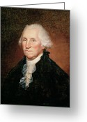 Founding Fathers Painting Greeting Cards - George Washington  Greeting Card by Rembrandt Peale
