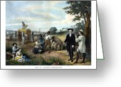 President Washington Greeting Cards - George Washington The Farmer Greeting Card by War Is Hell Store