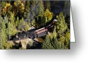 Idaho Greeting Cards - Georgetown Loop Railroad Greeting Card by Adam Pender