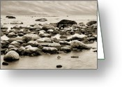 Beach Greeting Cards - Georgian Bay Greeting Card by Linda McRae