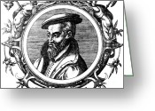 Historical Document Greeting Cards - Georgius Agricola, German Scholar Greeting Card by Science Source