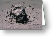 Mud Greeting Cards - Geothermal Mud Pool Greeting Card by Dr Juerg Alean