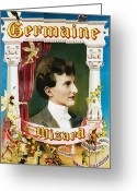 Magic Trick Greeting Cards - Germaine the Wizard Greeting Card by Unknown