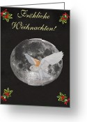 Lesvos Greeting Cards - German Christmas Owl Greeting Card by Eric Kempson