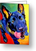 Shepherd Painting Greeting Cards - German Shepherd - Phoenix Greeting Card by Alicia VanNoy Call