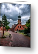 Quite Greeting Cards - German Town Greeting Card by Edward Myers