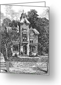 Germantown Photo Greeting Cards - GERMANTOWN VILLA, c1876 Greeting Card by Granger