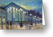 Germany Painting Greeting Cards - Germany Baden-Baden Casino Greeting Card by Yuriy  Shevchuk