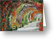 Germany Painting Greeting Cards - Germany Baden-Baden Rosengarten 01 Greeting Card by Yuriy  Shevchuk