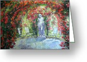 Europe Painting Greeting Cards - Germany Baden-Baden Rosengarten 02 Greeting Card by Yuriy  Shevchuk