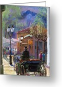 Baden-baden Greeting Cards - Germany Baden-Baden Spring  Ray Greeting Card by Yuriy  Shevchuk