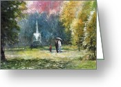 Germany Painting Greeting Cards - Germany Baden-Baden Greeting Card by Yuriy  Shevchuk