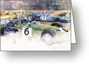 Motor Greeting Cards - Germany GP Nurburgring 1969 Greeting Card by Yuriy  Shevchuk
