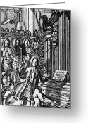 1732 Greeting Cards - Germany: Orchestra, 1732 Greeting Card by Granger