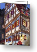Building Greeting Cards - Germany Ulm Old Street Greeting Card by Yuriy  Shevchuk