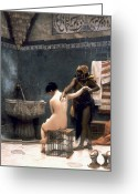Daily Life Greeting Cards - Gerome: The Bath, 1880 Greeting Card by Granger