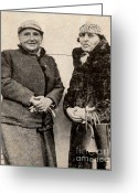 Personage Greeting Cards - Gertrude Stein And Alice B. Toklas Greeting Card by Photo Researchers