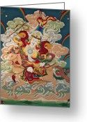 Thanka Greeting Cards - Gesar Gyalpo Greeting Card by Sergey Noskov