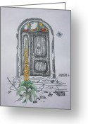 Tor Painting Greeting Cards - Geschlossen Greeting Card by Klaus Rach