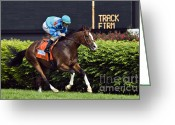 Churchill Downs Greeting Cards - Get Stormy - D007601 Greeting Card by Daniel Dempster