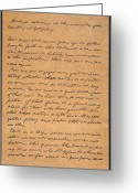 Artifact Greeting Cards - Gettysburg Address Greeting Card by Granger