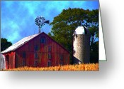 Pennsylvania Dutch Greeting Cards - Gettysburg Barn Greeting Card by Bill Cannon