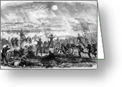 Military Pictures Greeting Cards - Gettysburg Battle Scene Greeting Card by War Is Hell Store