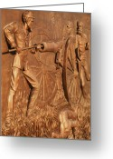 Schiabor Greeting Cards - Gettysburg Bronze Relief Greeting Card by Eric  Schiabor
