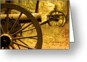 Canons Greeting Cards - Gettysburg Greeting Card by Don Wolf