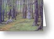Woods Pastels Greeting Cards - Gettysburg Pathway Greeting Card by Joann Renner