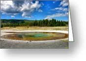 Landscape Framed Prints Greeting Cards - Geyser Pool I Greeting Card by Steven Ainsworth