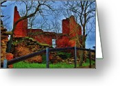 Ghirardelli Chocolate Factory Greeting Cards - Ghirardelli Ruins Greeting Card by Helen Carson