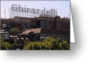Ghirardelli Chocolate Factory Greeting Cards - GHIRARDELLI SQUARE in SAN FRANCISCO Greeting Card by Daniel Hagerman