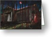 Haunted House Print Greeting Cards - Ghost Bride Greeting Card by Betty Northcutt