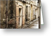 Digital Art Mixed Media Greeting Cards - Ghost Harley on Narrow Street Greeting Card by Gary Gunderson