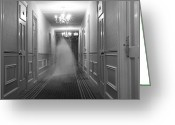 Decoration And Ornament Greeting Cards - Ghost In The Hall At The Hawthorne Greeting Card by Steve And Donna O