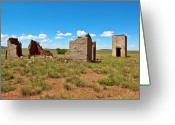 Ghostly Greeting Cards - Ghost of Concho Arizona Greeting Card by Steven Love