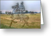 Regiment Greeting Cards - Ghost Of Gettysburg Greeting Card by Randy Steele