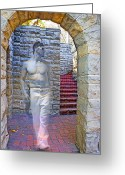 Socal Greeting Cards - Ghost of Greystone Mansion Greeting Card by Chuck Staley