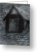 Slates Greeting Cards - Ghost Rain Greeting Card by RC DeWinter