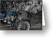 Harley Davidson Rally Greeting Cards - Ghost Rider Greeting Card by Anthony Wilkening