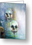Ghoul Greeting Cards - Ghost Ship 3 Greeting Card by Heather Calderon