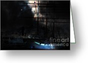 Boats Greeting Cards - Ghost Ship of The San Francisco Bay . 7D14032 Greeting Card by Wingsdomain Art and Photography