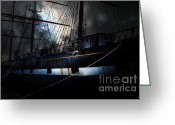 Boats Greeting Cards - Ghost Ship of The San Francisco Bay . 7D14153 Greeting Card by Wingsdomain Art and Photography