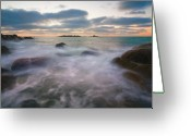 Jetty Greeting Cards - Ghost Tides Greeting Card by Mike  Dawson