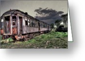Abandoned Train Greeting Cards - Ghost Town Train - Montana Greeting Card by Daniel Hagerman