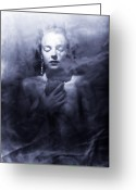 Translucent Greeting Cards - Ghost woman Greeting Card by Scott Sawyer
