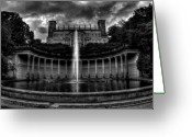 Ghostly Greeting Cards - Ghostly Castle Greeting Card by Christopher Lugenbeal